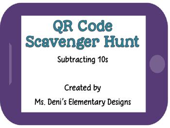 QR Code Scavenger Hunt Subtracting Tens