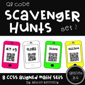 QR Code Scavenger Hunts: Grades 3 and 4 Math {Set 2}