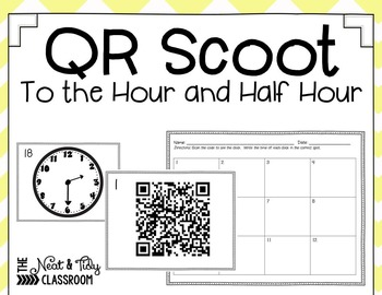 QR Code Scoot Time to the Hour and Half Hour