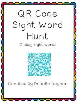 QR Code Sight Word Hunt - List 1