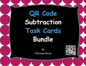 QR Code Subtraction Task Cards Bundle