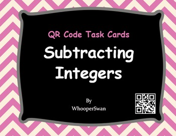 QR Code Task Cards: Subtracting Integers