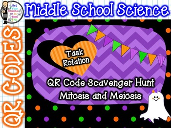 QR Code Task Rotation on Mitosis and Meiosis - Halloween Edition