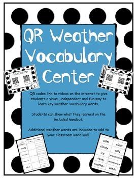 QR Code Weather Vocabulary Center