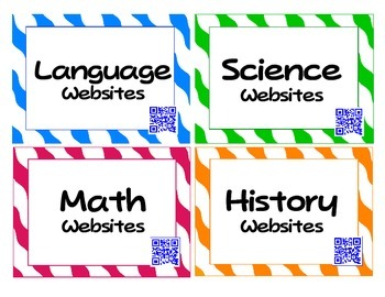 QR Code Website Cards: Links to Educational Websites (Scan