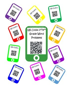 QR Code Word Problem Task Cards: Multiply, Divide, Add & Subtract