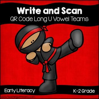 QR Code Write and Scan Long U Vowel Teams