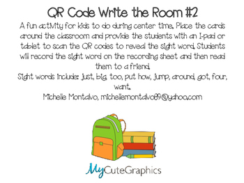 QR Code Write the Room 2