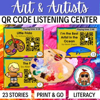 QR Codes - 23 QR stories about ART ~ listening centers Daily 5