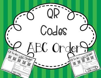 QR Codes:  ABC Order
