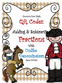 Adding & Subtracting Fractions - Unlike Denominators Game: