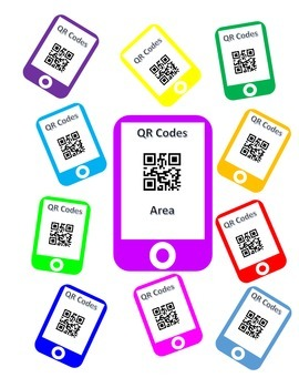 QR Codes Area Task Cards
