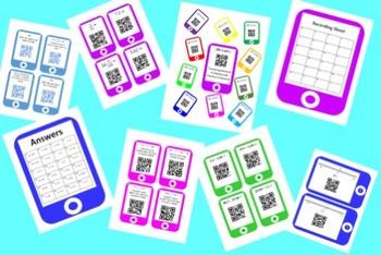QR Codes Decimal Task Cards Bundle