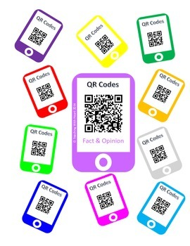 QR Codes Fact and Opinion Task Cards (Upper Elementary)