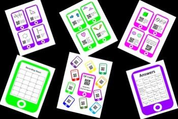 QR Codes Geometry Task Cards Bundle