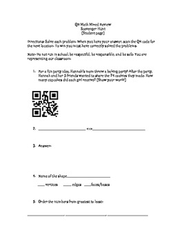 QR Codes Math Review