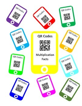 QR Codes Multiplication Facts Task Cards