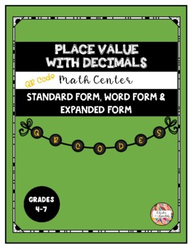 QR Codes - Place value with decimals