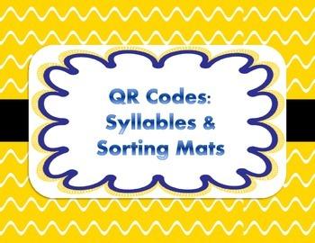 QR Codes Syllables & Sorting Mats