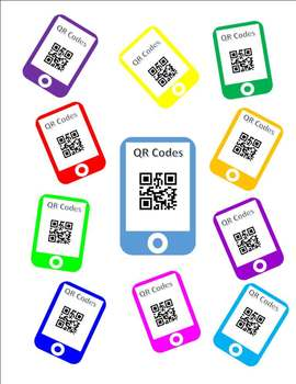 QR Codes Template - Large Card Size