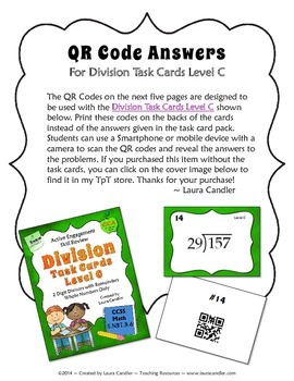 QR Codes for Division Level C Task Cards