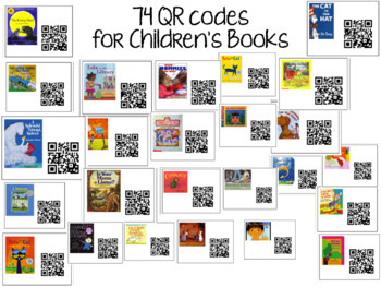 QR Codes for Listening Center- 56 Different Books with Pictures