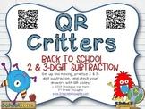 QR Critters: 2 & 3-Digit Subtraction {Back to School}