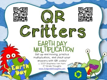 QR Critters: Multiplication {Earth Day}