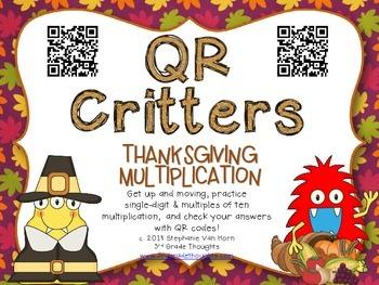 QR Critters: Multiplication {Thanksgiving}