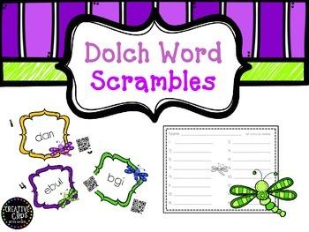 QR Dolch word scrambles- set 1