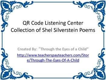 QR Listening Cards - Shel Silverstein Poems