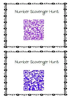 QR Number Scavenger Hunt 0-10