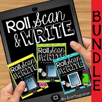QR Roll, Scan & Write an Opinion, Compare & Contrast or Su