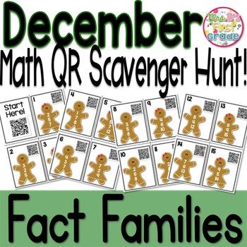 QR Math Scavenger Hunt - Fact Families