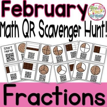QR Scavenger Hunt - Fractions
