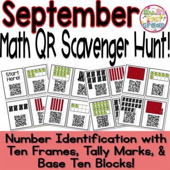 QR Scavenger Hunt - Number Identification w/ Tally Marks,