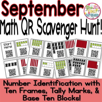 QR Scavenger Hunt - Number Identification w/ Tally Marks,