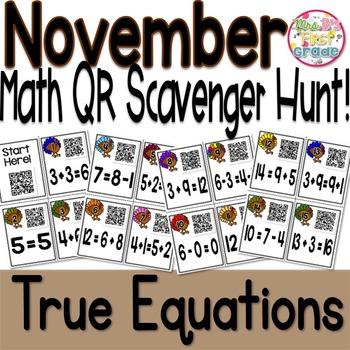 QR Scavenger Hunt - True Equations