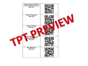QR code : Who Am I? Elements and the Periodic Table Proton