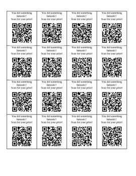 QR code rewards (junior high/middle school)