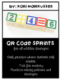 QR code sprints- for all addition strategies