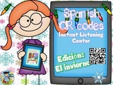 QR codes in Spanish plus comprehension questions (El invierno)