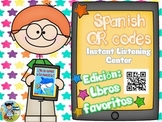 QR codes in Spanish plus comprehension questions (Libros F