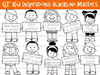 QT Kid Inspirations! - BLACKLINE MASTERS - Personal and Co