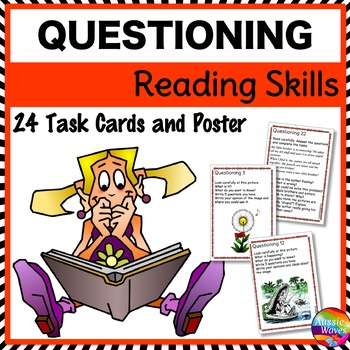 QUESTIONING Task Cards to Improve READING COMPREHENSION SKILLS