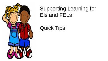 QUICK TIPS FOR TEACHERS K - 6