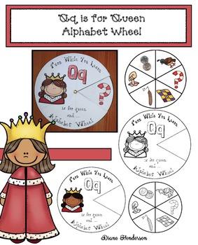 Qq is for Queen Alphabet Wheel