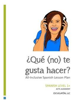 ¿Qué (no) te gusta hacer? Spanish Complete LP, Worksheets