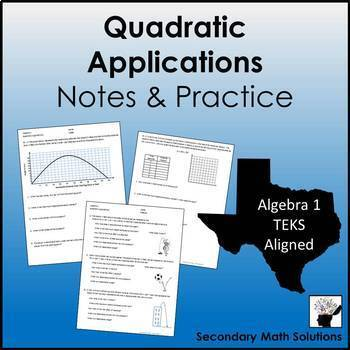Quadratic Applications Practice