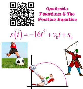 Quadratic Equation - Position Equation Real World App with